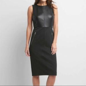 GAP GRAY BLACK PONTE  SHEATH DRESS WITH ZIPPER